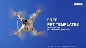 White Drone In The Sky Powerpoint Templates