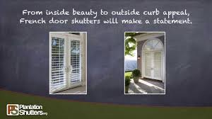 french doors with shutters. Shutters Look Great On French Doors -- PlantationShutters.org With S