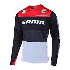 Troy Lee Designs Downhill Jersey Sprint Elite Sram Beta Black Red