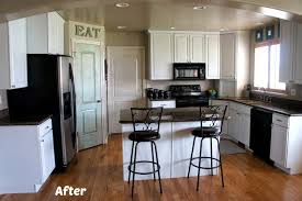 white painted kitchen cabinets before and after. Brilliant And White Painted Kitchen Cabinet Reveal With Before And After Photos  Cabinets To White Painted Kitchen Cabinets Before And After T