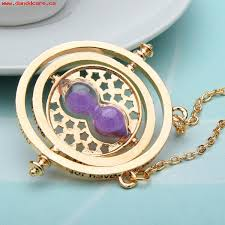 hourglass pendant necklace gold silver plated 964095 larger image