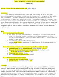 informative speech outline templates examples informative speech outline 14