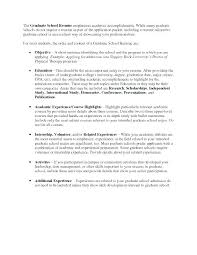 Resume For Graduate School Graduate School Resume Samples Application Resume Format Grad School ...