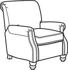 armchair drawing step by step. Fine Step Collection Of Chair Armchair Drawing Easy Clipart Black And White Library Throughout Drawing Step By A