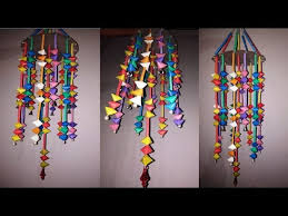 diy straw craft how to make wall hangings chandelier jhoomar ceiling hanging2018