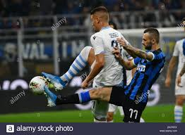 SERGEJ MILINKOVIC SAVIC LAZIO AND MARCELO BROZOVIC INTER during Inter Vs  Lazio , Milano, Italy, 25 Sep 2019, Soccer Italian Soccer Serie A Men  Champi Stock Photo - Alamy