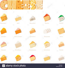 Vector Cheese Types Icon Set Stock Vector Art Illustration