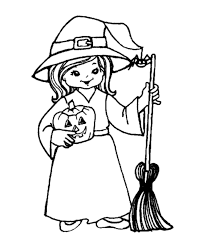 Small Picture Halloween Witch Coloring Pages Halloween Witch With A Broom