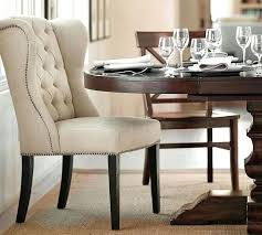 wing back dining chair top dining room tufted chair pottery barn within throughout tufted dining chair prepare wing chair dining table