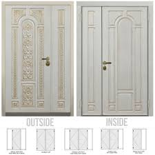 white double front door. Golden Oak - Black Patina; White Gold Patina. Features. Titian Double Entry Door Front O