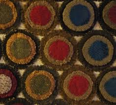rugs with circles mounted penny rug appliqued circles rugs circles rugs with circles