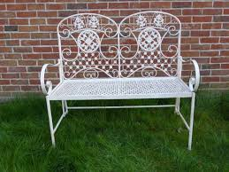 3 piece cream metal bistro set for 2 ornate garden patio set for two