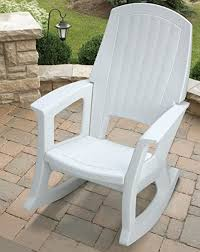 Semco Plastics Semw Extra Large Recycled Plastic Resin Durable Outdoor Patio Rocking Chair White Patio Rocking Chairs Garden Outdoor