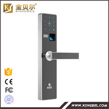 advanced intelligent touch screen biometric fingerprint door lock with oled display