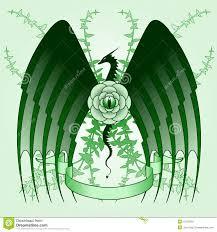 Tattoo дракона розовый иллюстрация вектора иллюстрации