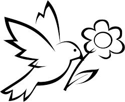 Printable Bird With Flower Coloring Pages For Preschoolers