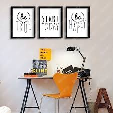 inspirational frames for office. P14 English Alphabet Inspirational Quotes Poster Wall Pictures Living Room Decor Frame Not Include-in Painting \u0026 Calligraphy From Home Garden On Frames For Office