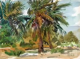 palm tree painting palms in key west by donald maier