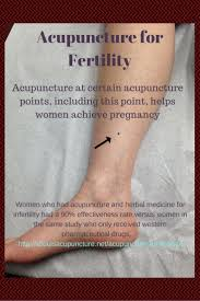 Acupuncture Points For Fertility Chart Help Getting Pregnant Fast Acupuncture Fertility
