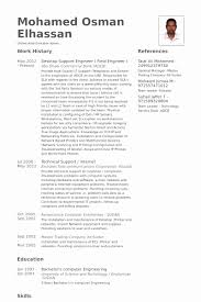 It Support Engineer Sample Resume Adorable 40 Elegant Photos Of Resume Format Experienced Technical Support