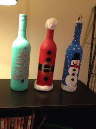 How To Decorate A Wine Bottle For Christmas I am obsessed with Christmas and I'm always spending so much money 75