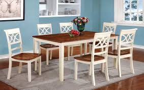 Furniture Of America TwoTone Adelle Country Style Dining TableCountry Style Extendable Dining Table