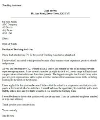 Cover Letter Sample For Assistant Teacher Teaching Assistant Cover