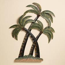 palm tropical outdoor wall decor