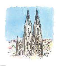 Kölner Dom Zeichnung Comic