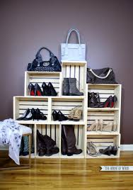 How To Make A Shoe Rack Easy Shoe Storage Display The House Of Wood