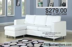 white faux leather sofa small white faux leather sectional sofa couch convertible into sofa and ottoman