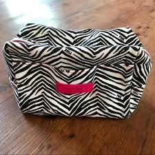 victoria secret pink zebra makeup bag