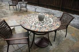 exceptional stone patio table tops inch round sealant maintenance top repair