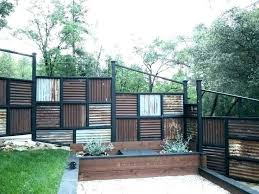 corrugated metal privacy fence panels design sophisticated