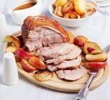 roast pork   and apple dinner