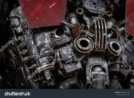 Engine Parts Design Old Engine Parts Steel Robot Design Stock Photo Edit Now