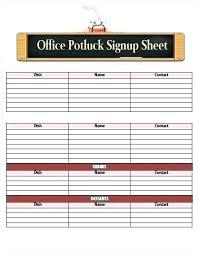 Sign Up Sheet Template Google Docs Potluck Sheet Template Atlasapp Co