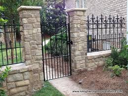 Raleigh Wrought Iron and Fence Co Custom Wrought Iron Fence in