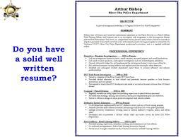 resume police officer