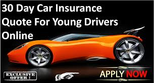 30 day car insurance quote low deposit car insurance available for young drivers