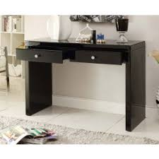 mirror hall table. RIO CRYSTAL Black Glass Mirrored Console Dressing Table Mirror Hall