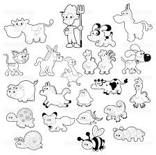 Farm Animal Coloring Pages Cow Coloring Pages Farm Animals