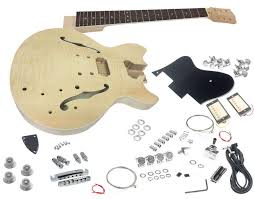 solo es style diy guitar kit flamed maple top