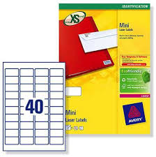 avery sheet labels l7654 avery laser labels 40 per sheet 25 sheets