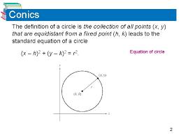 algebra ii honors conic sections circle