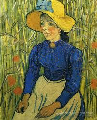 peasant girl with yellow straw hat vincent van gogh