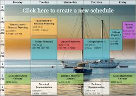 Online Schedule Free Free Online Schedule Maker Plan Weekly Activities
