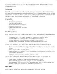 Resume Templates: Neonatal Nurse
