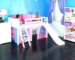 bunk bed with slide and desk. Twin Bed With Slide And Tent For Loft Kids  . Bunk Desk