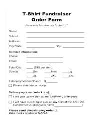 Fax Templates In Word Mesmerizing Fundraiser Order Form Template T Shirt Word Free 44 Forms Sample R